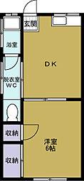 めぐみ荘[2階]の間取り