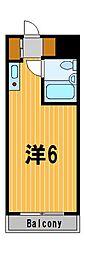 神奈川県横浜市港北区大倉山3の賃貸マンションの間取り