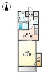 レジデンス黒龍[2階]の間取り