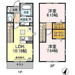 仮)D−room黒川[102号室]の間取り