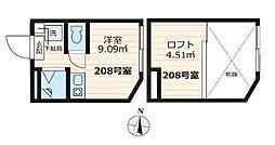 アパートメンツ東京西小岩(ネット・仲介手数料無料)[208号室号室]の間取り