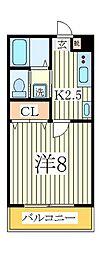 A−レガート我孫子[2階]の間取り