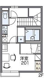 レオパレスヒル[2階]の間取り