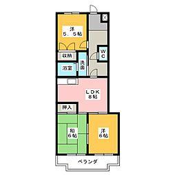 グランドヒルズITO II番館[1階]の間取り