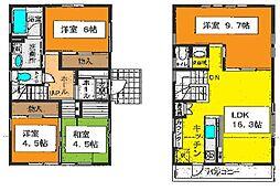 [一戸建] 神奈川県茅ヶ崎市浜竹4丁目 の賃貸【/】の間取り