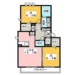 仮)ハートホーム中川区中須町[2階]の間取り