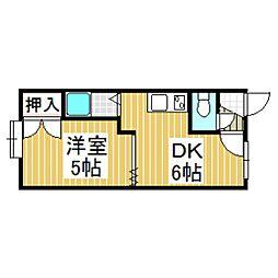 クリスタルハウス2[2階]の間取り