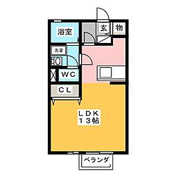 リビングタウン乙田G棟[1階]の間取り