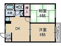 西田メゾン[1階]の間取り