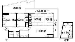 兵庫県宝塚市紅葉ガ丘の賃貸マンションの間取り