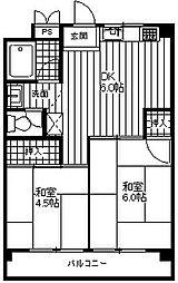 矢澤ハイツ[4階]の間取り