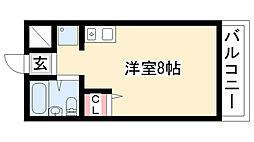 三松ハイツ[202号室]の間取り