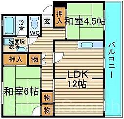 レインボーマンション[4階]の間取り