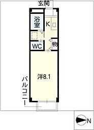 プチハイツ石井[1階]の間取り