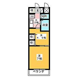 上杉五番館[3階]の間取り