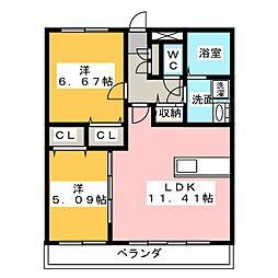 GRAN−S TAMACHI[4階]の間取り