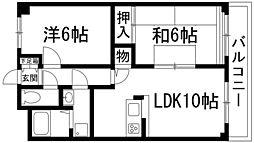 兵庫県伊丹市中野西2丁目の賃貸マンションの間取り