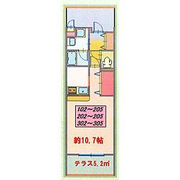 (仮)フローレスNK[305号室]の間取り