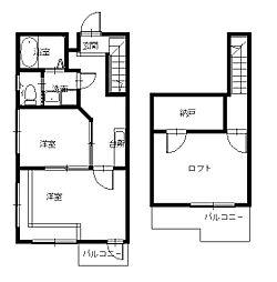 創和ハウジング西坂新築アパートIII[2階]の間取り