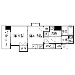 ピュアドーム博多ルネサンス[2階]の間取り