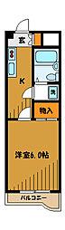 東京都国分寺市戸倉の賃貸マンションの間取り
