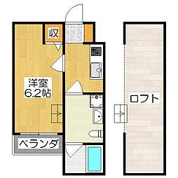 Residencia 六地蔵[1階]の間取り