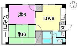 フォレスト居村[201 号室号室]の間取り