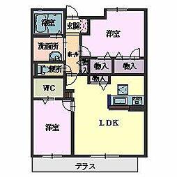 シャーメゾン城ノ坂[1階]の間取り