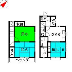 ファミールA[1階]の間取り