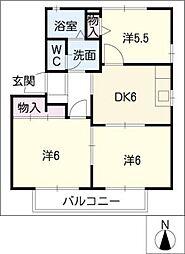 パークホーム青山D棟[2階]の間取り