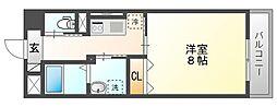 JR山陽本線 岡山駅 徒歩14分の賃貸マンション 9階1Kの間取り