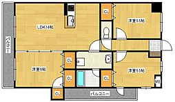 クレールヴィラ[3階]の間取り