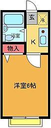 エクセレント綾瀬[2階]の間取り