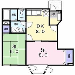 ファミリ−ドエルI[1階]の間取り