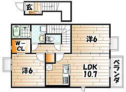 フォルトゥ-ナA[2階]の間取り