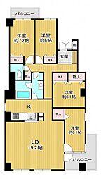 三田カルチャータウンリフォレD棟301号室 関学男子専用シェア 3階ワンルームの間取り