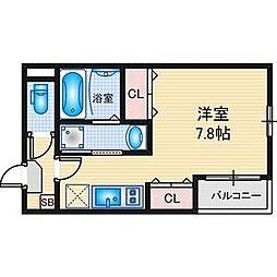 名古屋市営東山線 本陣駅 徒歩10分の賃貸アパート 1階ワンルームの間取り