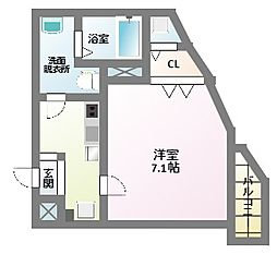 T&M北田辺[1階]の間取り