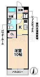 愛知県名古屋市瑞穂区北原町3丁目の賃貸アパートの間取り