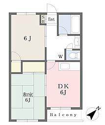 滝本ビル4階Fの間取り画像