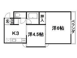 ラセットアベニュー[1階]の間取り