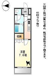 JR東海道・山陽本線 彦根駅 徒歩22分の賃貸アパート 1階1Kの間取り