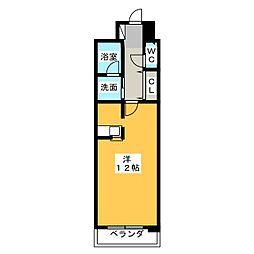 マンション夢想 5階ワンルームの間取り