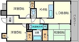 クオリティ東淀川[5階]の間取り