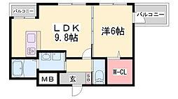 七番館[3階]の間取り