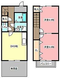 [テラスハウス] 静岡県浜松市東区和田町 の賃貸【静岡県 / 浜松市東区】の間取り