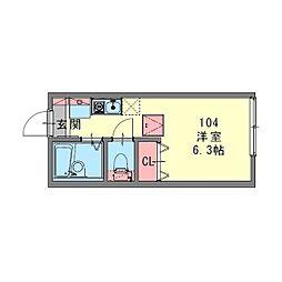LE CIEL BLEU 横浜反町[0104号室]の間取り