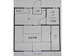 レジデンスアーシャ[2階]の間取り