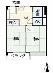 サラヤビル[4階]の間取り