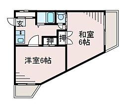 南台岩波ビル[3階]の間取り